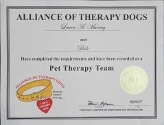 Bolo ATD certificate
